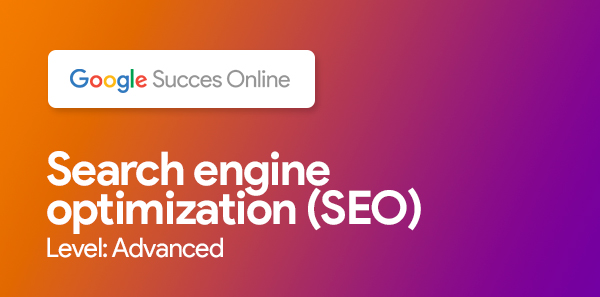 Search engine optimization (SEO), level: advanced